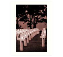 Normandy- American Cemetery Art Print