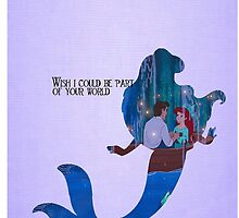 Little Mermaid ~ Part Of Your World Silhouette Phone Case by EvaEnchanted