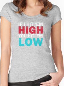 High and Low Women's Fitted Scoop T-Shirt