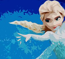 Disney's Frozen Abstract Piece by Colin Bradley