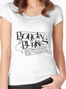 Borgin & Burkes (in black) Women's Fitted Scoop T-Shirt