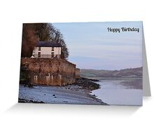 Boathouse Birthday Card Greeting Card