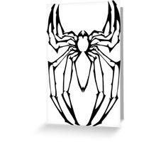 Stylized Spider-Man Emblem Greeting Card