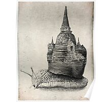 The Snail's Dream (Monochrome) Poster