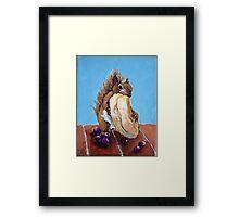 Bagel Eater Framed Print