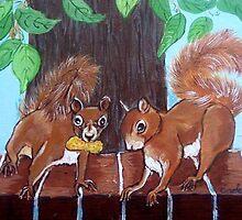 Folksy Squirrels by Carole Chapla