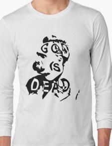 """Friedrich Nietzsche - """"God is Dead"""" Long Sleeve T-Shirt"""