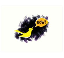Climate Canary in the Coal Mine Art Print