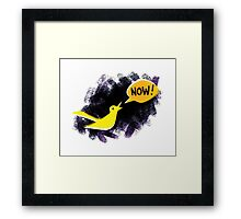 Climate Canary in the Coal Mine Framed Print