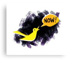 Climate Canary in the Coal Mine Canvas Print