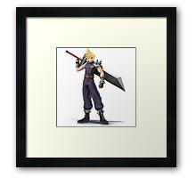 Super Smash Brothers: Cloud Strife (Final Fantasy) Framed Print