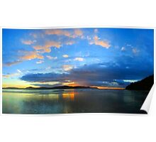Central Coast Sunrise Panorama Poster