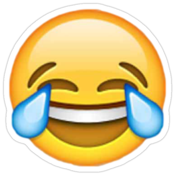 """""""Crying laughing emoji"""" Stickers by Chloe Hebert   Redbubble"""