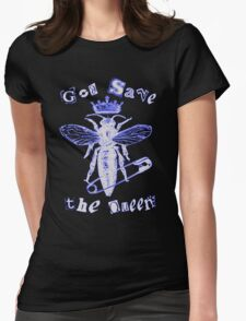 God Save The Queen BW Womens Fitted T-Shirt