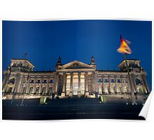 reichstag at night Poster