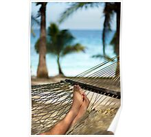 Man relaxing in a hammock Poster