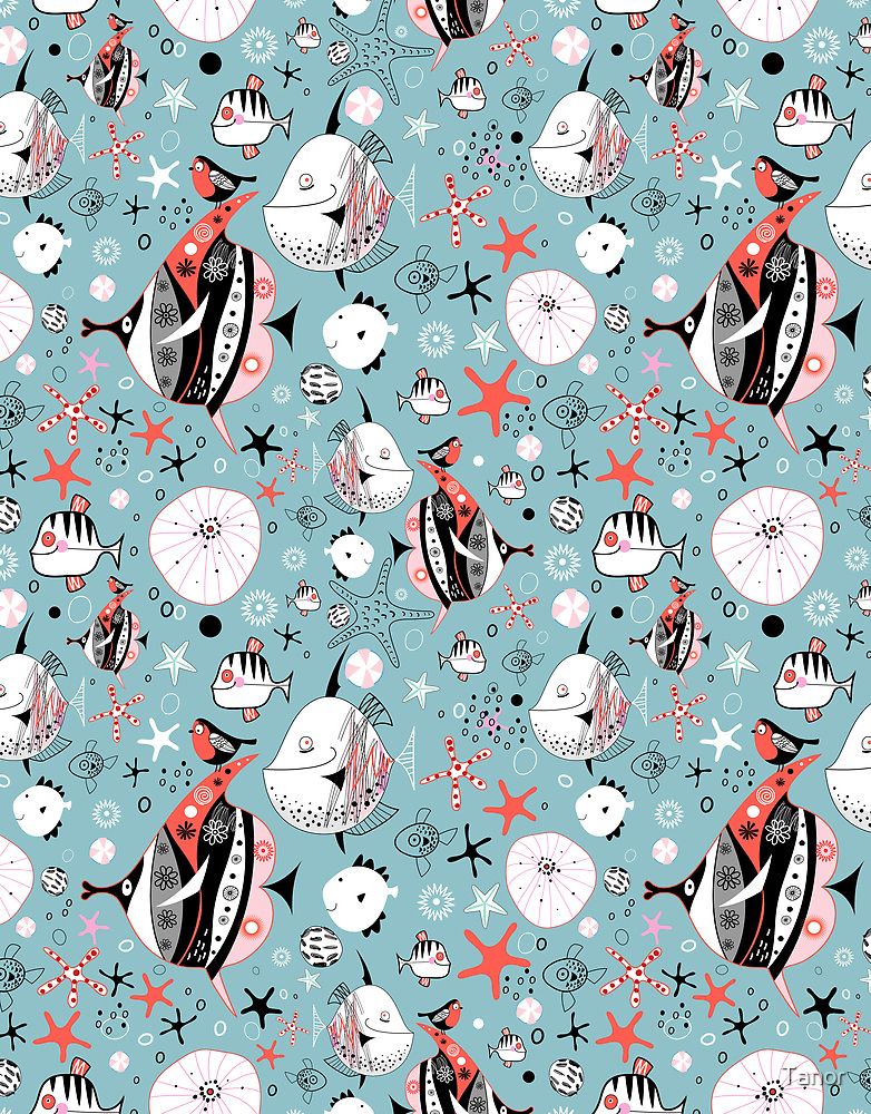 marine pattern of fish by Tanor