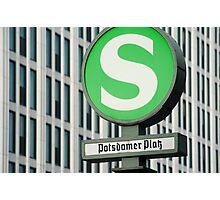 S-Bahn Sign Photographic Print