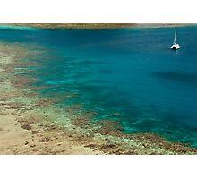 fiji sailing catamaran Photographic Print
