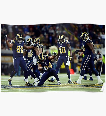 St.louis rams d-line doing a little celebrating  Poster