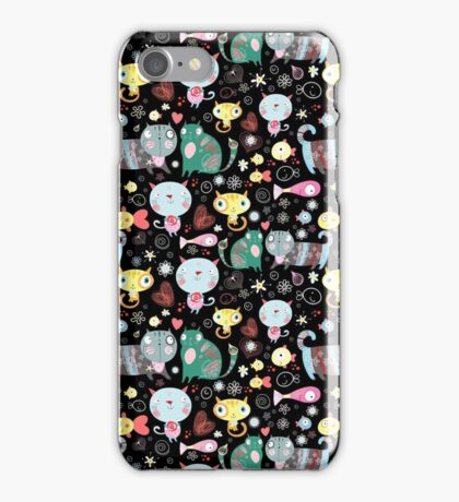 Funny pattern of kittens  iPhone Case/Skin