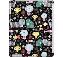 Funny pattern of kittens  iPad Case/Skin
