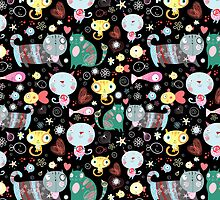 Funny pattern of kittens  by Tanor