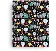 Funny pattern of kittens  Canvas Print