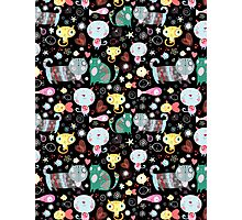 Funny pattern of kittens  Photographic Print