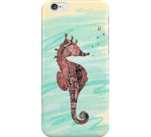coral seahorse iPhone Case/Skin