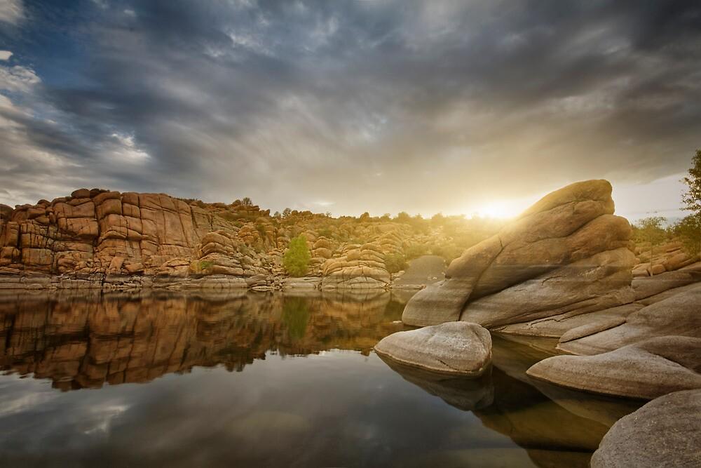 Sunset Stacks by Bob Larson