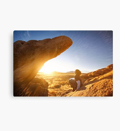 Sometimes The Rock Climbs You Canvas Print