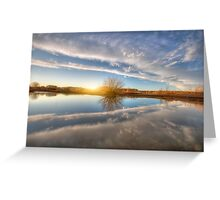 Between Clouds Greeting Card