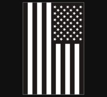 US Flag B&W T-Shirt