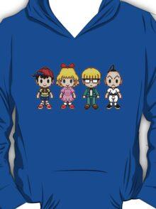 Earthbound Pixels - Ness, Paula, Jeff & Poo T-Shirt