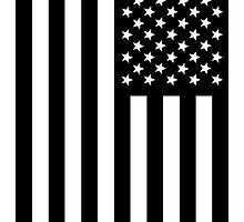 US Flag B&W by viixiigfl