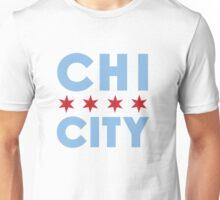 Chi City White Vneck Tee Unisex T-Shirt