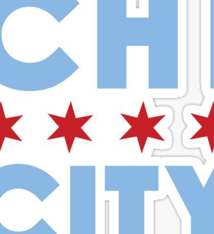 Chi City White Vneck Tee Sticker