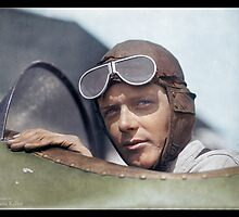 Charles Lindbergh, 1923 by Dana Keller