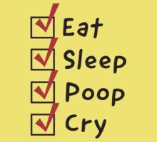 Funny Baby Checklist Baby Tee