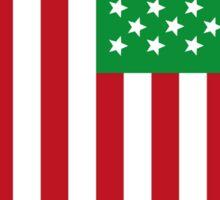 US Flag Italy Sticker