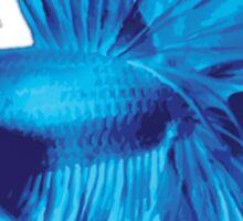 Blue Halfmoon Betta Splenden Sticker