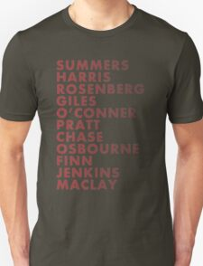 Buffy The Vampire Slayer All Business Surnames T-Shirt