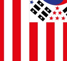 US Flag Korea Sticker