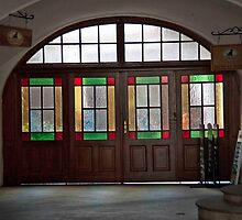 Stained Glass Entryway by phil decocco