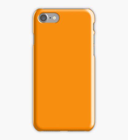 PURE COLOR-DARK ORANGE iPhone Case/Skin