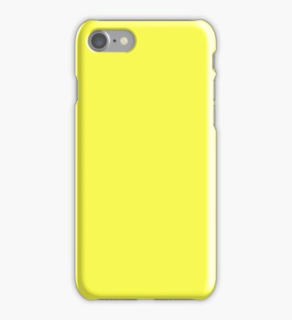 PURE COLOR-MOON YELLOW iPhone Case/Skin