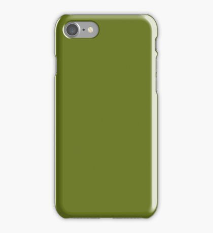 PURE COLOR-MOSS GREEN iPhone Case/Skin