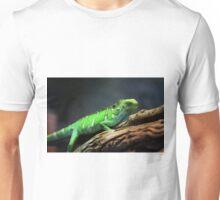 Green Lizard on Tree Branch Unisex T-Shirt