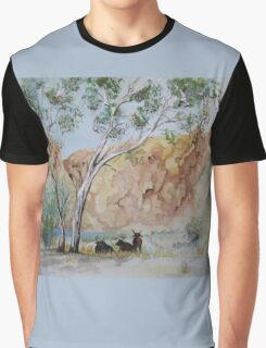 Afternoon Shade Watercolour Painting  Graphic T-Shirt